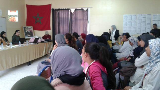 نادي القيم والمواطنة بثانوية نجيب محفوظ التأهيلية بآسفي يحتفل باليوم العالمي للمرأة
