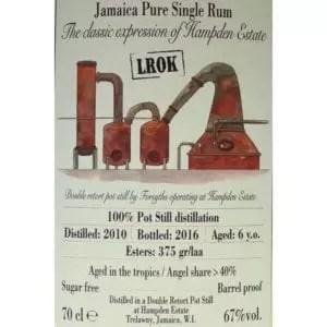 etichetta rum habitation velier hampden vintage