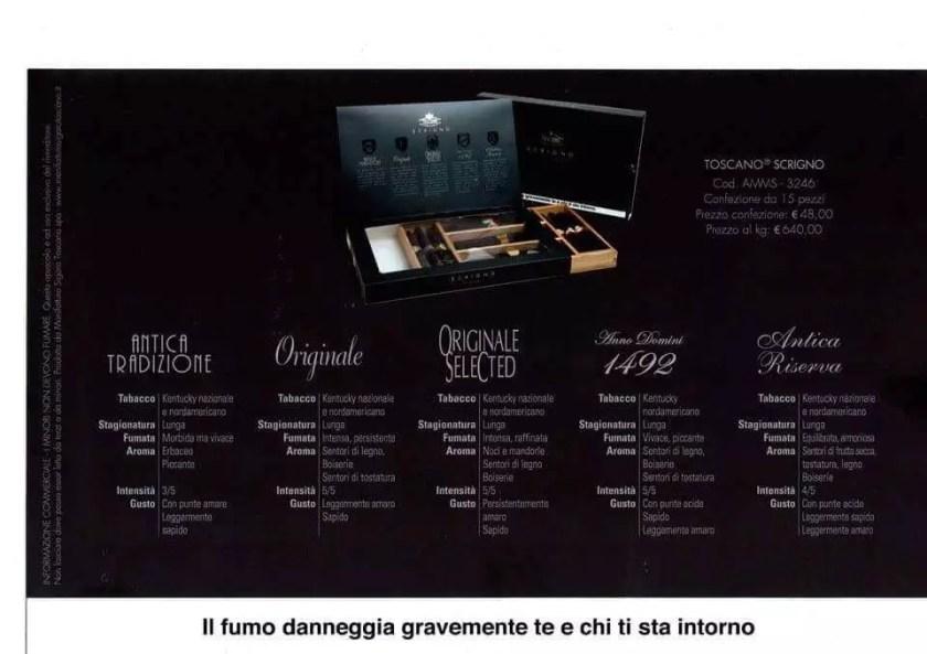 Composizione scatola Toscano Scrigno