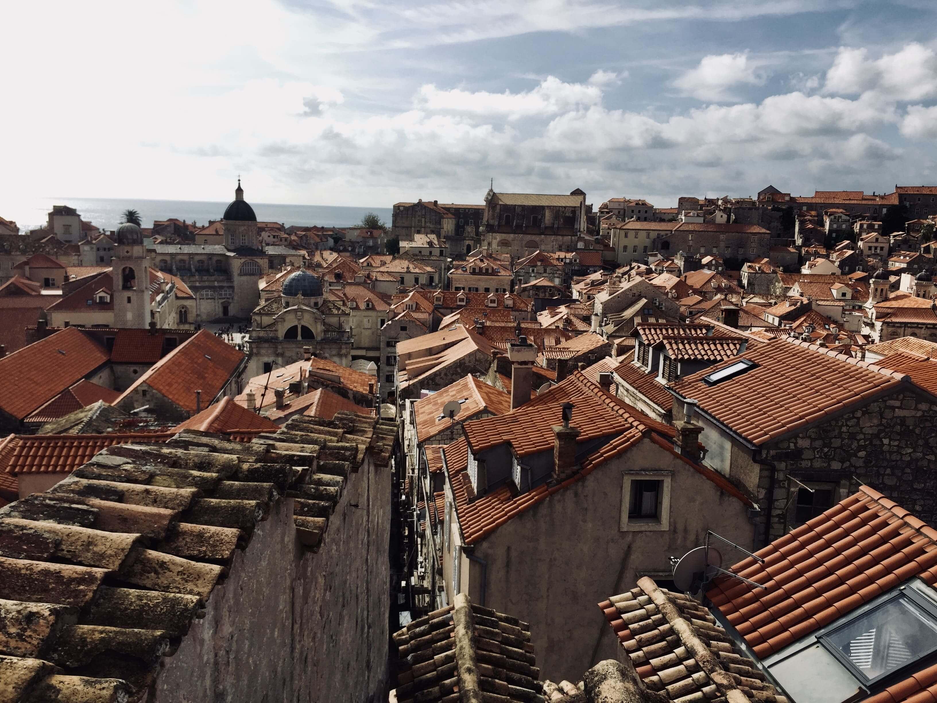 ドブロブニク 城壁からの景色