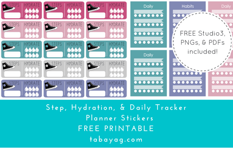 PlanIt! Step, Hydration, & Habit Tracker Stickers – Free ...