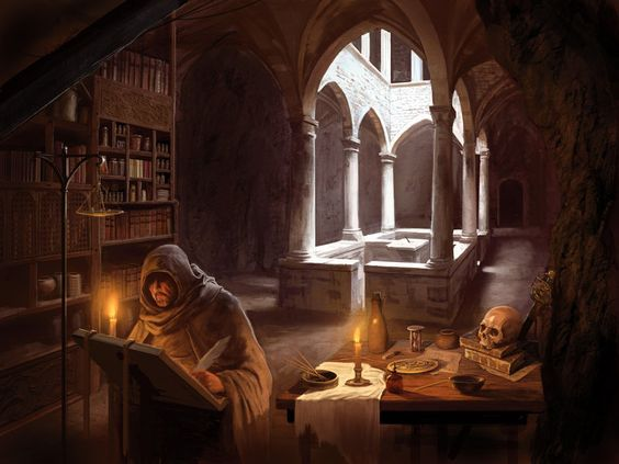 El mago en su laboratorio - entre partidas