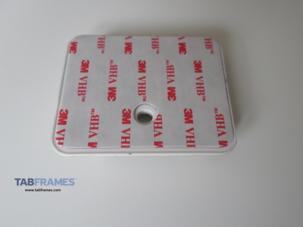 Shows the adhesive side of security plate, 3M bonding