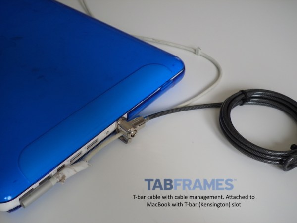 MacBook with T-bar