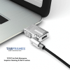 Noble TZ18T Wedge Profile Lock for tablets and Ultrabooks, supporting the Noble security slot for DELL Alienware & Gaming laptops