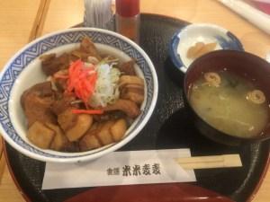 黒豚角煮丼