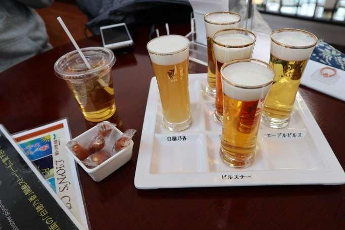 5種類のビール飲み比べ