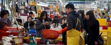 チャガルチ市場の新東亜水産物総合市場