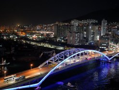 釜山南浦洞ロッテ百貨店の屋上展望台