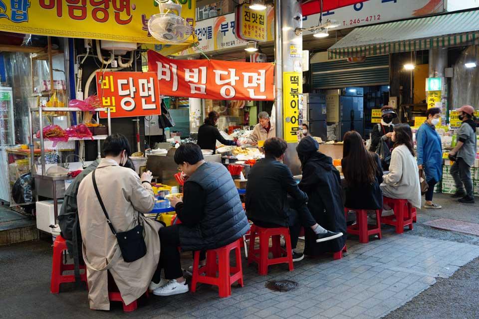Bibimdan myon在Bupyeong廣州市場
