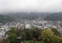 Uwajima: Blick auf die Umgebung vom Schloss aus
