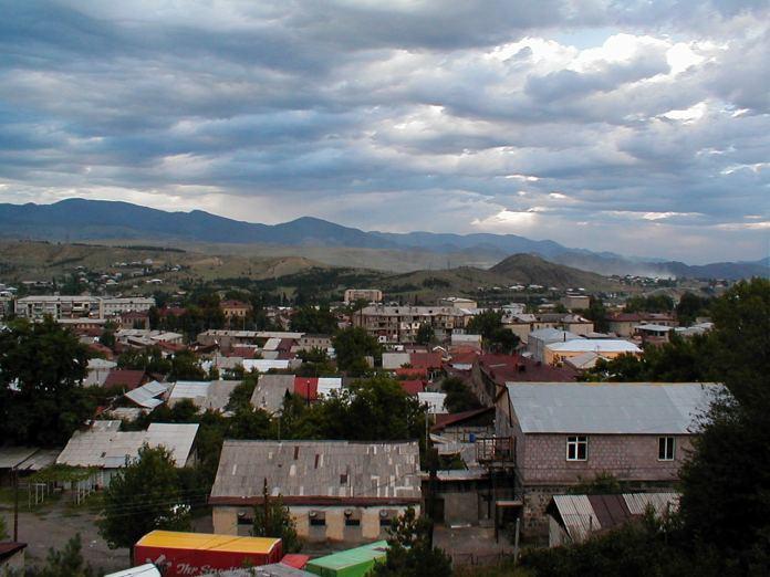 Blick über das Zentrum von Akhaltsikhe