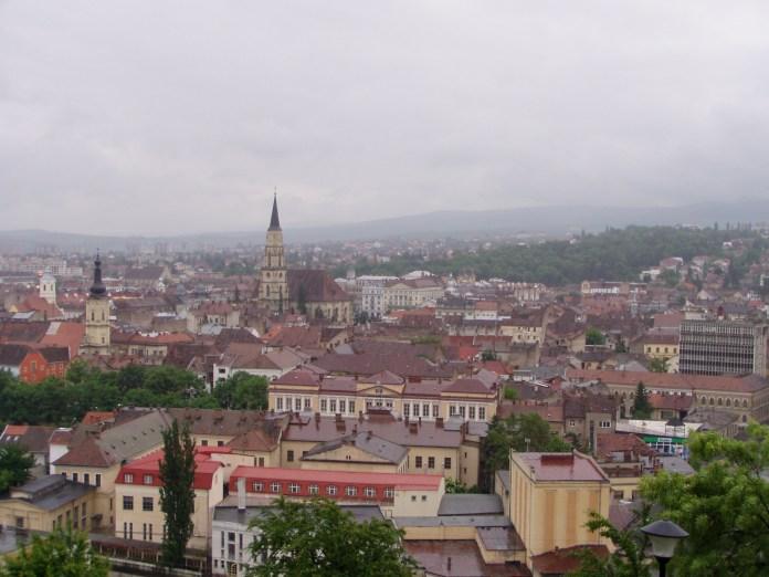 Blick von den Resten der Festung auf die Innenstadt