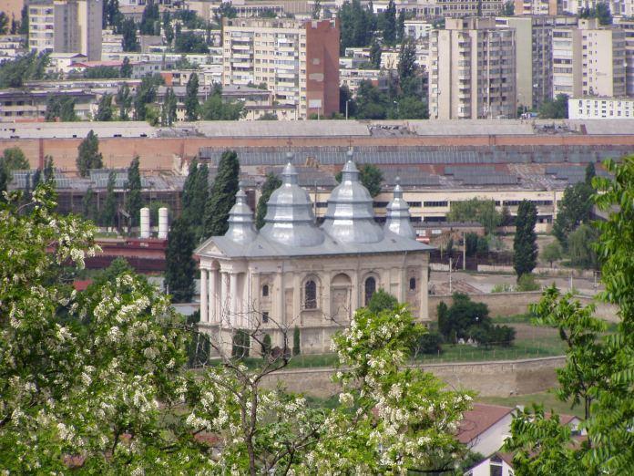 Blick von oben auf das Frumuosa-Kloster