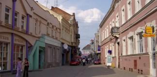 Fussgängerzone in der Altstadt von Uzhgorod