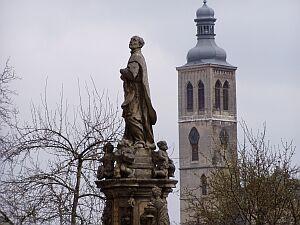 Blick vom Jesuitenkolleg zur Jakobskirche