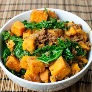 Kale and Sweet Potato Hash with Chorizo