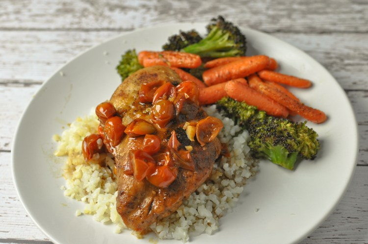 Skillet Balsamic Chicken with Tomatoes - Tabitha Talks Food