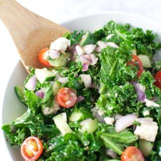 Chopped Greek Kale Salad