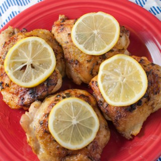 Roasted Lemon Pepper Chicken Thighs