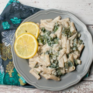 Kale Pasta with Lemon and Ricotta