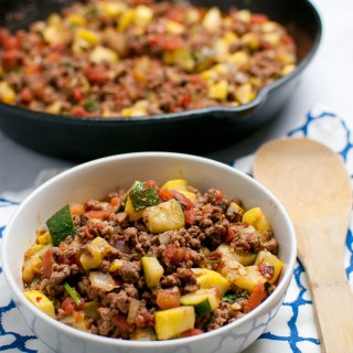 Mexican Veggie Beef Skillet