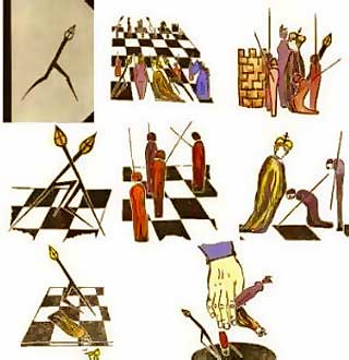 Representaciones a lo largo de la Historia del ajedrez (Fuente: https://i1.wp.com/www.tabladeflandes.com/frank_mayer/elke-rehder_144.jpg)