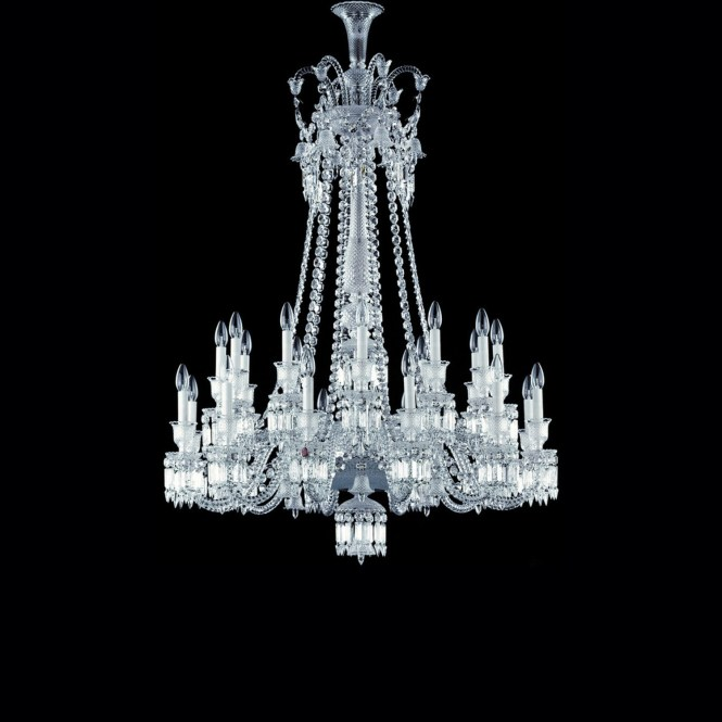Chandelier Clear 24 Lights Long Baccarat