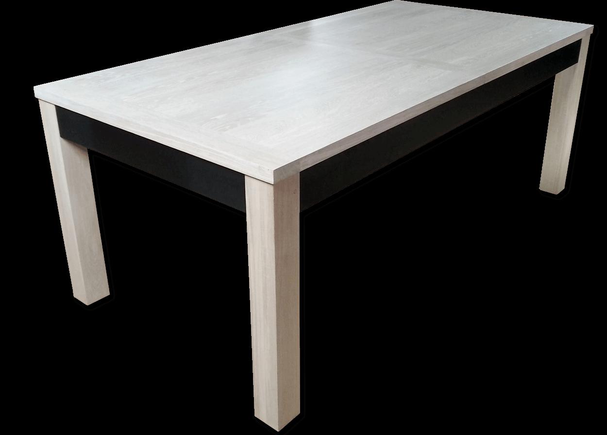 nos tables a allonges en bois massif table a allonges contemporaine metal et bois de chene massif