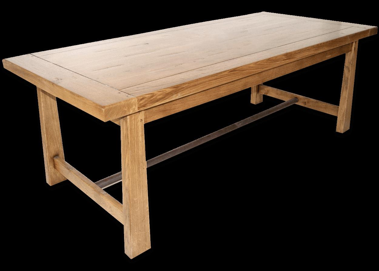 nos tables fixes en bois massif table fixe campagnarde belvoir bois de chene massif