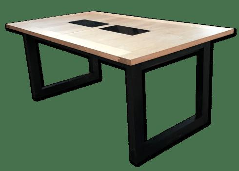 nos tables a allonges en bois massif table a allonges athenes design bois de chene massif