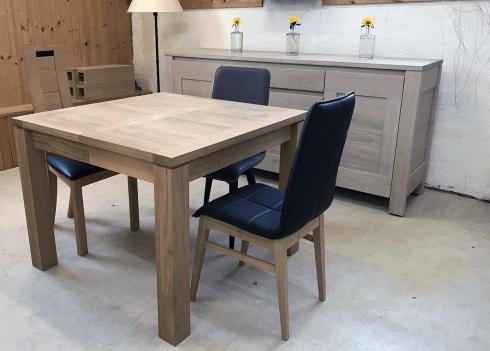 nos tables a allonges en bois massif table a allonges cali naturel carree bois de chene massif