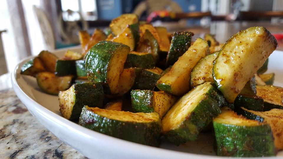 Paprika and Garlic Roasted Zucchini