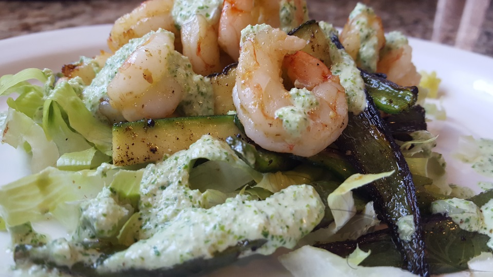 Spicy Shrimp and Poblano Salad