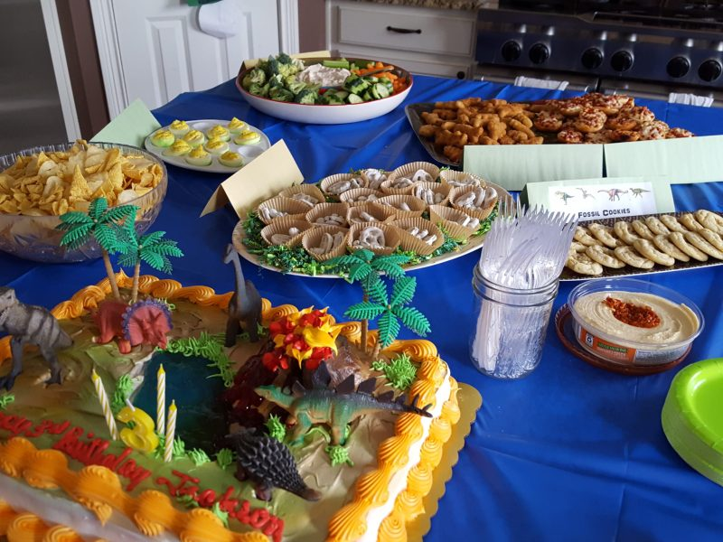 The Party Spread, Easy food for a dinosaur birthday party