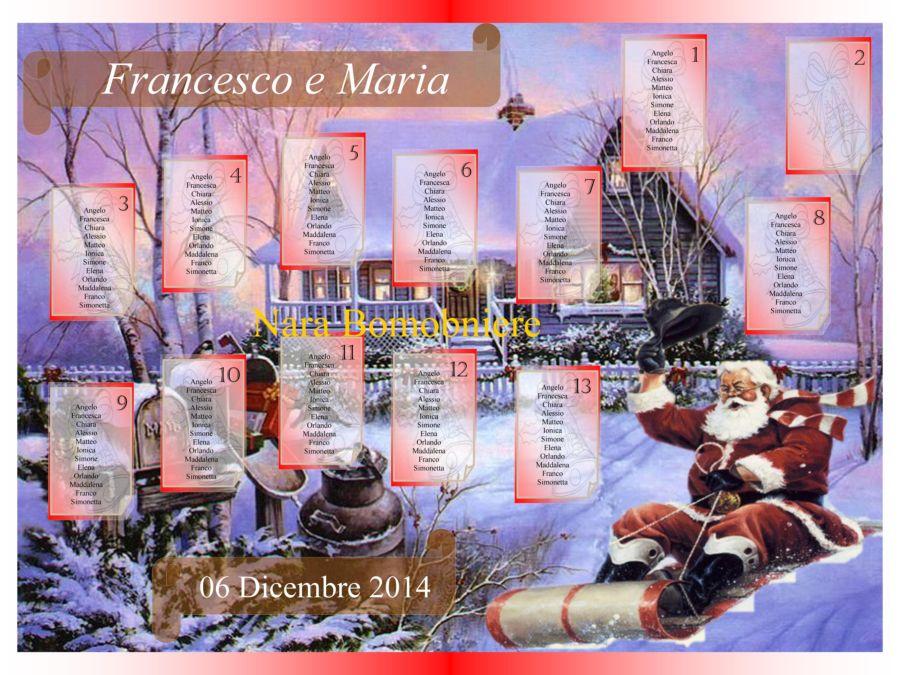 Tableau Matrimonio Natalizio : Tableau matrimonio natalizio tableau degli sposi