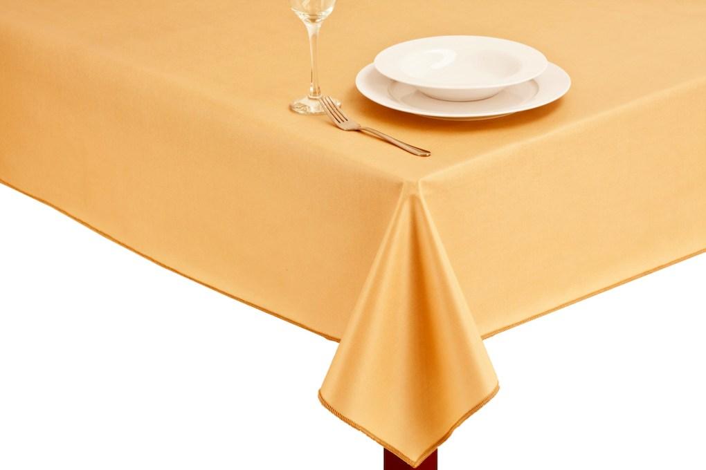 Gold oilcloth tablecloth