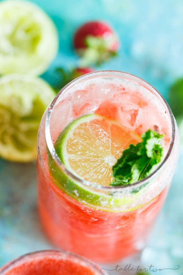 Strawberry Rosé Mint Limeade - Refreshing Summer Drink for ...