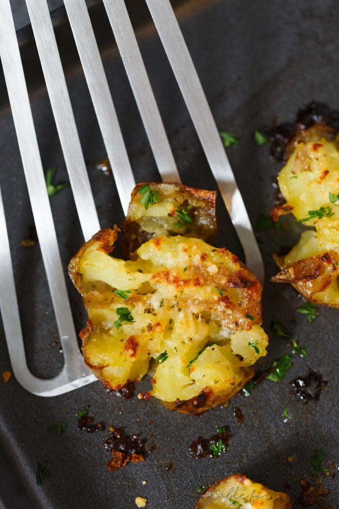 Parmesan Garlic Ranch Butter Smashed Potatoes - Potato Recipes