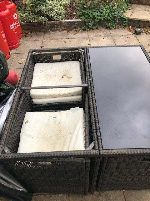 replacement rattan table glass table