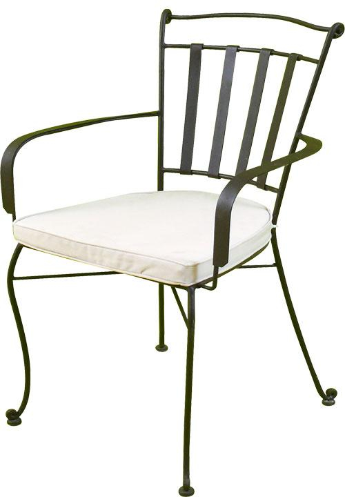 fauteuil dr en fer forge plein