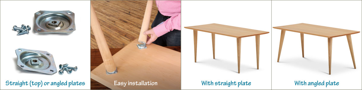 8 easy ways to attach table legs
