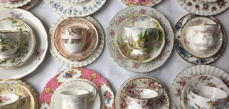 high tea servies huren vintage te huur