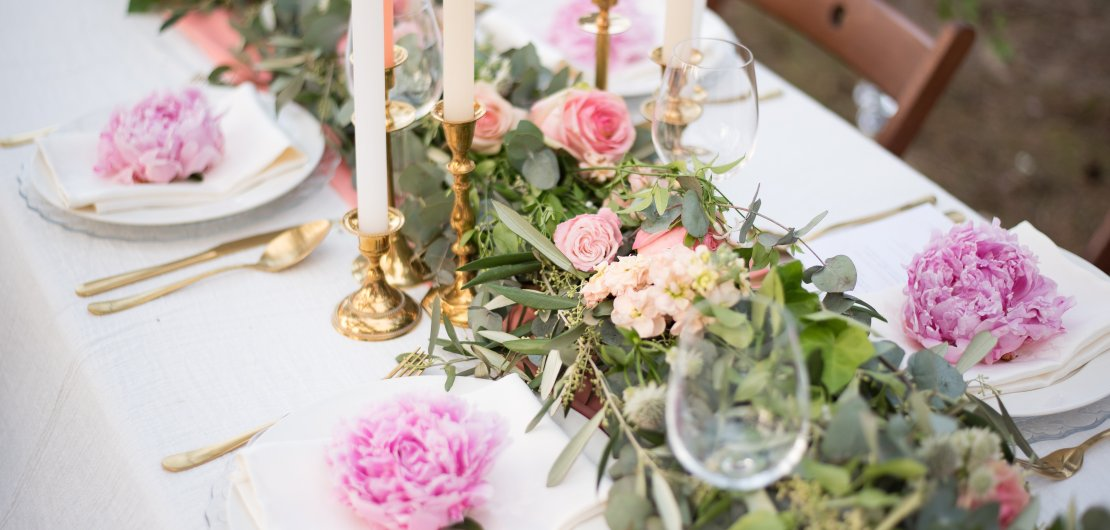 Tafelstyling romantisch Table Moments