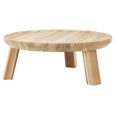serveerschaal op voet hout huren verhuur Table Moments
