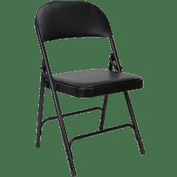 lot de 6 chaises pliantes en vinyle noir europ