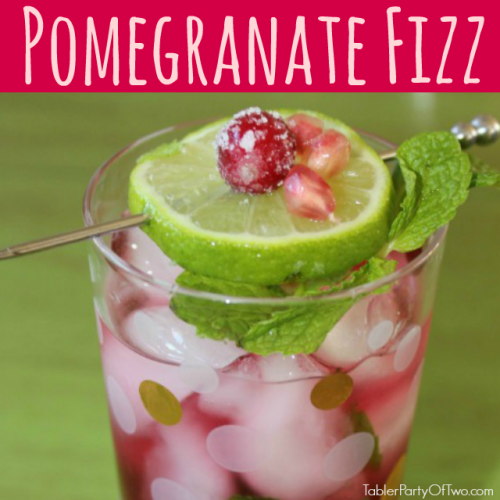 Pomegranate Fizz Cocktail... perfect for the holidays!