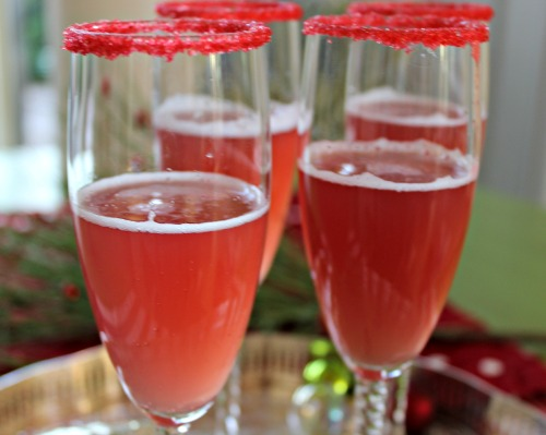 So festive! Holiday Champagne Punch!