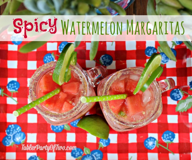 Spicy Watermelong Margaritas