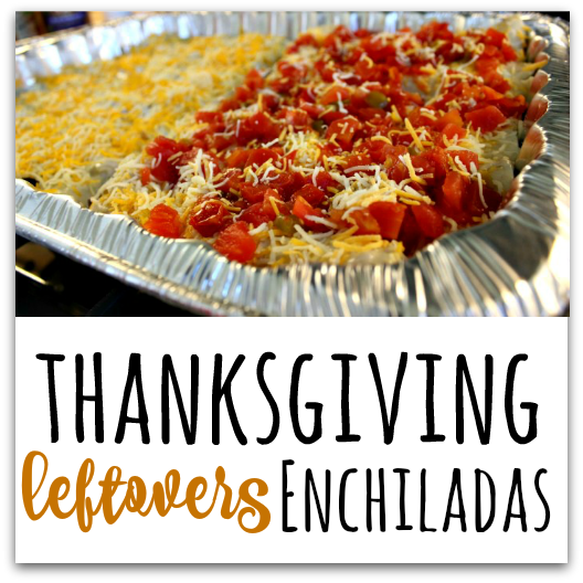 What to do with all your Thanksgiving leftovers? Holiday Leftovers Enchiladas, of course! TablerPartyofTwo.com